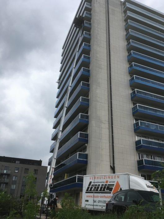 Verhuislift Hasselt, Umzugslift, High-rise building